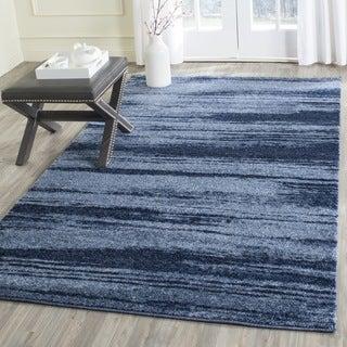 Safavieh Retro Modern Abstract Light Blue/ Blue Distressed Rug (3' x 5')