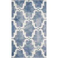 Safavieh Handmade Dip Dye Watercolor Vintage Blue/ Ivory Wool Rug - 3' x 5'