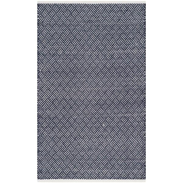 Safavieh Hand-Tufted Boston Navy Cotton Rug (3' x 5') - 3' x 5'