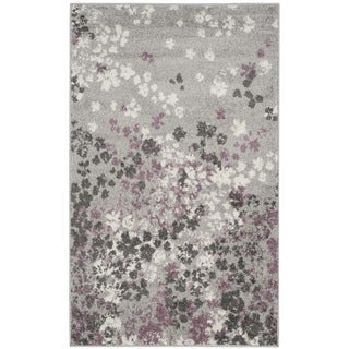 Safavieh Adirondack Vintage Floral Light Grey / Purple Rug (3' x 5')