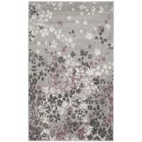 Safavieh Adirondack Vintage Floral Light Grey / Purple Rug - 3' x 5'