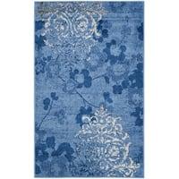 Safavieh Adirondack Vintage Damask Light Blue/ Dark Blue Rug - 3' x 5'