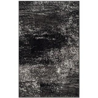 Safavieh Adirondack Modern Abstract Silver/ Black Rug (3' x 5')
