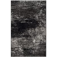 Safavieh Adirondack Modern Abstract Silver/ Black Rug - 3' x 5'
