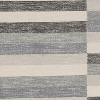 Safavieh Hand-Woven Striped Kilim Grey Wool Rug (4' x 6')
