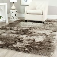 Safavieh Handmade Silken Glam Paris Shag Sable Brown Rug - 5' x 8'