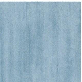 Safavieh Handmade Himalaya Solid Blue Wool Area Rug (11' x 15')