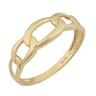 Fremada 10k Yellow Gold High Polish Figaro Ring (size 6 - 9)