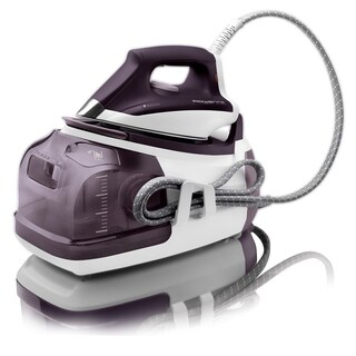 Rowenta DG8520 Perfect Steam Iron Station Eco Energy With 400-Hole Stainless Steel Soleplate, 1800-Watts (Purple)