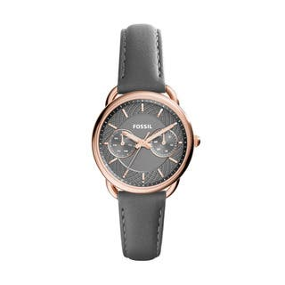 Fossil Women's ES3913 Tailor Multi-Function Grey Dial Grey Leather Watch|https://ak1.ostkcdn.com/images/products/10971814/P17995455.jpg?impolicy=medium