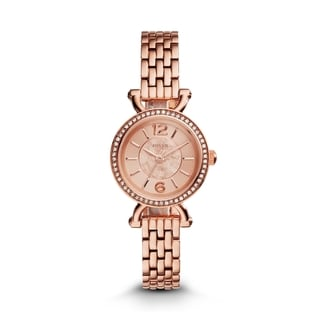 Fossil Women's ES3894 Georgia Cordell Diamond Rose-Tone Gold Dial Rose-Tone Gold Stainless Steel Bracelet Watch