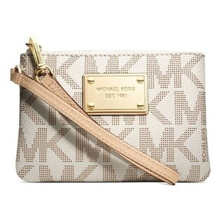 Michael Kors Jet Set Small Vanilla Signature Wristlet