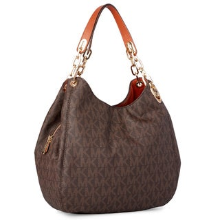 Michael Kors Fulton Large Signature Shoulder Tote Bag