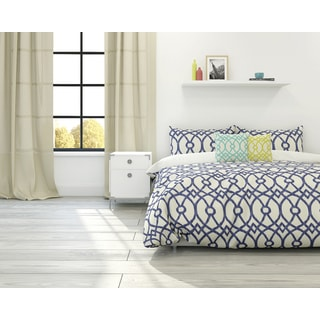 Piper Trellis 3-piece Cotton Duvet Set
