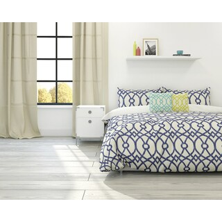 Piper Trellis 3-piece Cotton Duvet Set