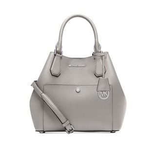 Michael Kors Greenwich Pearl Grey Large Grab Bag Shoulder Handbag
