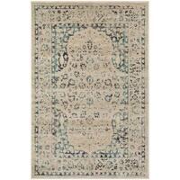 Safavieh Evoke Vintage Oriental Beige/ Turquoise Distressed Rug (4' x 6') - 4' x 6'