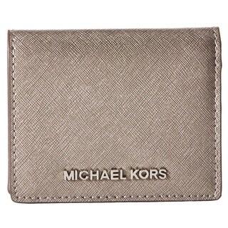 Michael Kors Jet Set Travel Nickel Flap Card Holder