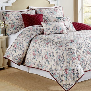 Amraupur Overseas Samantha Paisley Printed Reversible 6-piece Quilt Set
