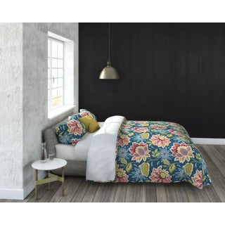 Callaway Floral 3-piece Cotton Duvet Set