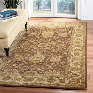 Safavieh Handmade Classic Brown/ Cream Wool Rug (6' x 9')