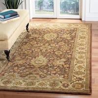 Safavieh Handmade Classic Brown/ Cream Wool Rug - 6' x 9'