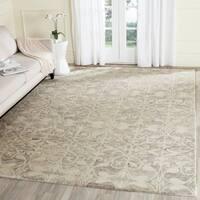 Safavieh Handmade Chatham Light Grey/ Ivory Wool Rug - 6' x 9'