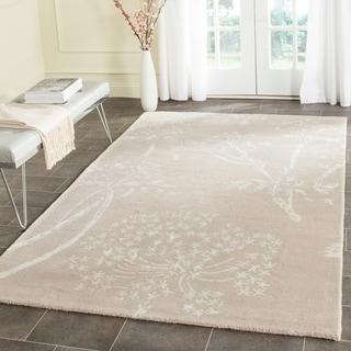 Safavieh Handmade Bella Sand/ Ivory Wool Rug (6' x 9')
