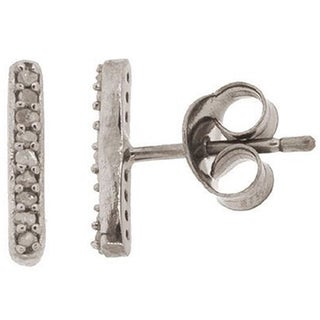 Pori Sterling Silver 1/6ct TDW Champagne Diamond Stud Earrings