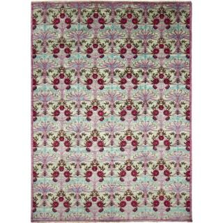 Hand-knotted Jamshad Purple Area Rug (10' x 14'1)