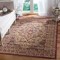 "Safavieh Lavar Kerman Cream/ Red Cotton Rug - 6'7"" x 9'"