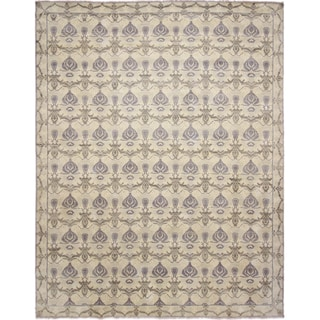 Hand-knotted Oushak Layan Blue Rug (12' x 15')