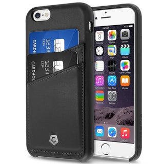 CobblePro Black Leather Case with Wallet Flap Pouch for Apple iPhone 6/ 6s