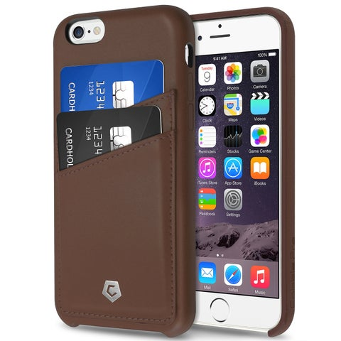 Cobble Pro CobblePro Brown Synthetic Leather Case with Wallet Flap Pouch for Apple iPhone 6/ 6s
