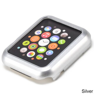 iPM Premium Shiny Hard Plastic Protective Border Case for 38mm Apple Watch (Option: Silver)