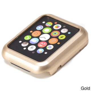 iPM Premium Shiny Hard Plastic Protective Border Case for 38mm Apple Watch (Option: Gold)