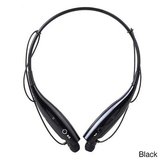 iPM Bluetooth Noise Canceling Neckband Headset with Built-in Microphone (Option: Black)