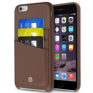 CobblePro Brown Leather Case with Wallet Flap Pouch for Apple iPhone 6 Plus/ 6s Plus