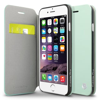 CobblePro Night Glow Mint Green Leather Case with Stand/ Wallet Flap Pouch for Apple iPhone 6/ 6s