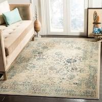 Safavieh Evoke Vintage Oriental Beige/ Turquoise Distressed Rug (5'1 x 7'6) - 5'1 x 7'6