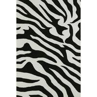 Valencia Black Zebra Stripe Rug