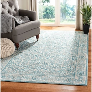 Safavieh Evoke Vintage Oriental Ivory / Light Blue Distressed Rug (5'1 x 7'6)