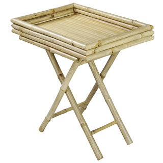 Bamboo Tray with Folding Legs