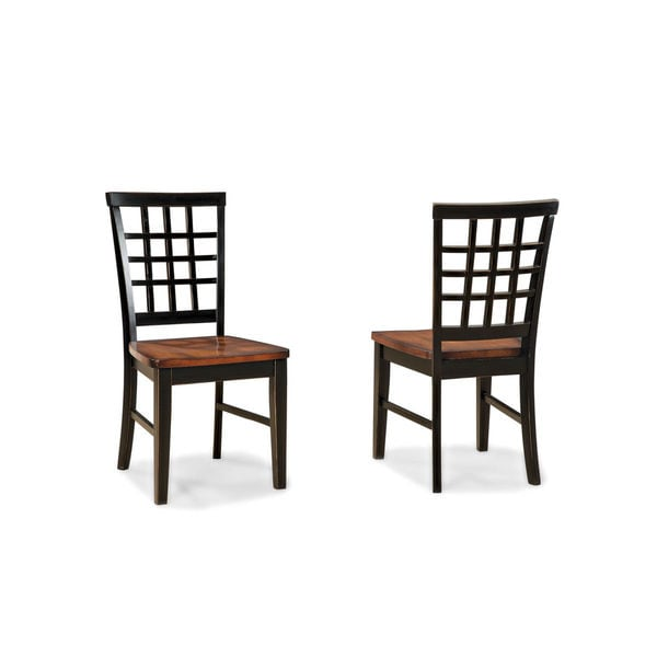 arlington lattice back and wood seat side chair set of 2 free