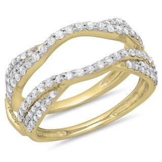 Elora 14k Gold 3/4ct TDW Diamond Split Shank Ring (I-J, I1-I2)
