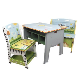 Fantasy Fields - Sunny Safari Desk, Chair & Bench Set