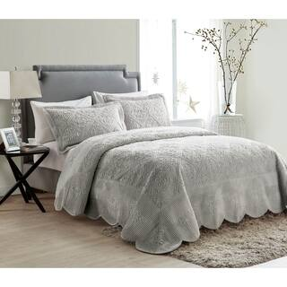 VCNY Westland Plush Quilted Bedspread Set