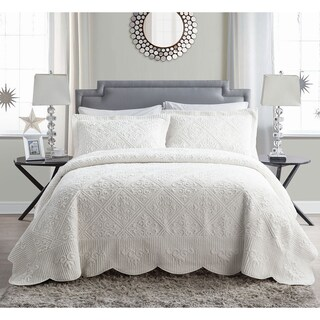 VCNY Westland Plush Quilted 3-Piece Bedspread Set (5 options available)