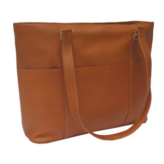 Piel Leather Laptop Computer Tote Bag (Option: Brown)