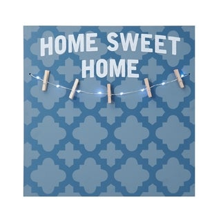 Melannco LED 'Home Sweet Home' Photo Clip Board